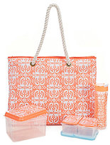 Fit & Fresh West Hampton Medallion Twist Insulated Summer Tote Kit