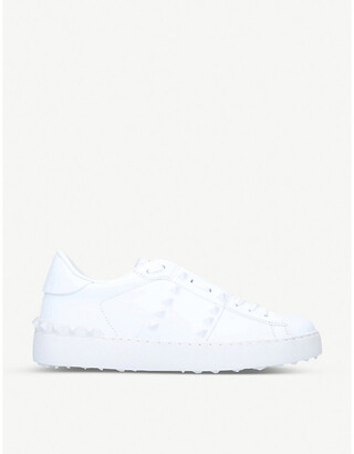 Valentino Rockstud stud-embellished leather low-top trainers