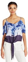Buffalo David Bitton Women's Miriam Tie Dye Button up Shirt