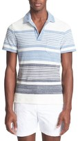 Orlebar Brown Stripe Cotton Terry Polo