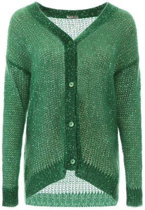 Miu Miu Sequins Knitted Cardigan