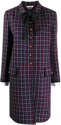 Miu Miu Check Coat