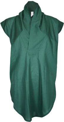 Format TOAT Green Plain Blouse - XS - Green