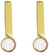 Jennifer Meyer Round Diamond Drop Bar Stud Earrings
