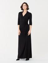Diane von Furstenberg Abigail Jersey Maxi Wrap Dress
