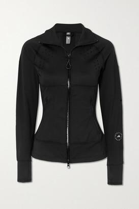 adidas by Stella McCartney Truepurpose Perforated Stretch-jersey And Mesh Jacket - Black