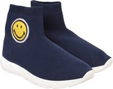 Joshua Sanders Blue Socks Sneaker With Smile