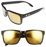 Oakley Women's Holbrook 56Mm Polarized Sunglasses - Black/ 24K Iridium