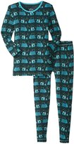 Kickee Pants Print Pajama Set (Toddler/Kid) - Camping Fox - 7 Years