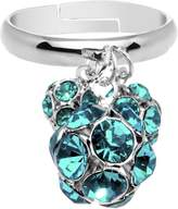 Body Candy Blue Green Cluster Dangle Adjustable Ring