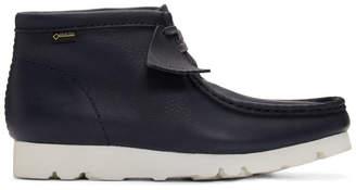Clarks Navy Wallabee GTX Boots