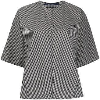 Sofie D'hoore Banpo checked cotton blouse