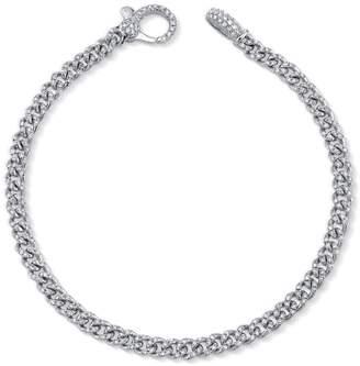 Shay Baby Pavé Diamond Link Bracelet - White Gold