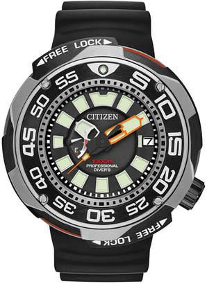 Citizen Men Eco-Drive Sport Black Polyurethane Strap Watch 52mm BN7020-17E