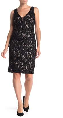 Marina Sequin Lace Sleeveless Sheath Dress