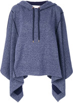 See by Chloe cape-style hoodie - women - Cotton/Polyester - XS