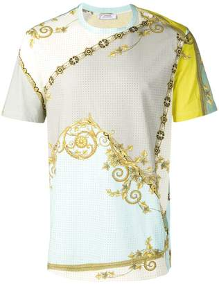 Versace golden leaf print T-shirt