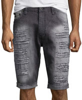 Southpole South Pole Ripped Slim-Fit Denim Shorts