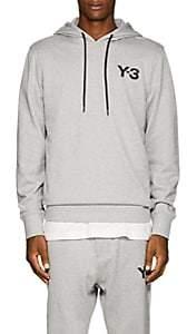 Y-3 Men's Logo-Print Cotton Hoodie - Gray