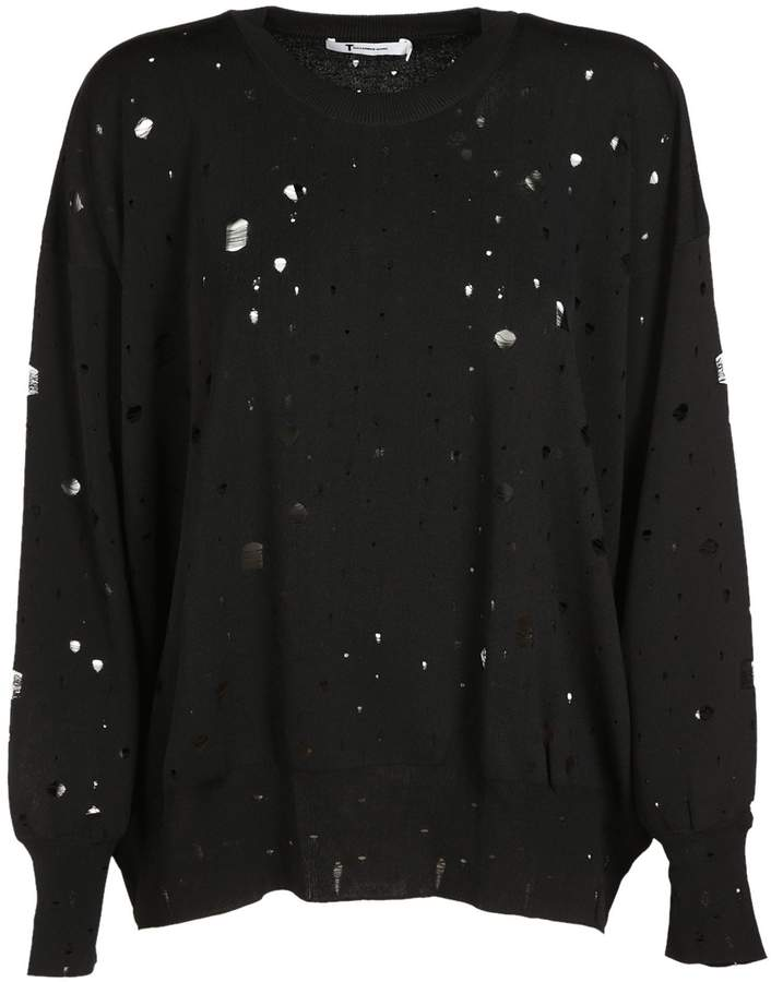 Alexander Wang Oversized Hole Detail Sweater