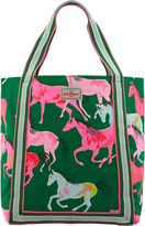 Cath Kidston Painted Horses Reverse Coated Tote