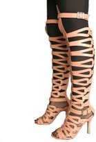 Katypeny Women's Open Toe High Heel Gladiator Sandals 10.5 US M