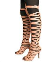 Katypeny Women's Open Toe High Heel Gladiator Sandals 8.5 US M