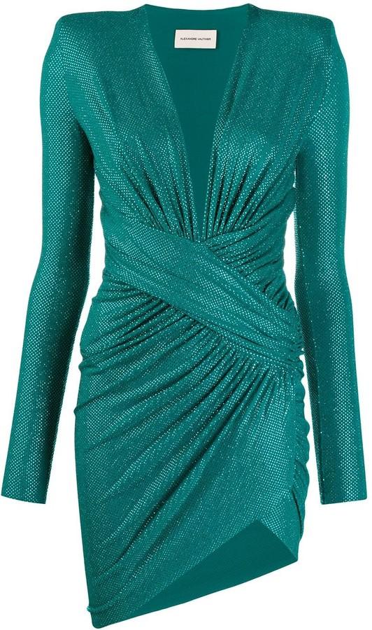 Alexandre Vauthier Embellished Ruched Dress