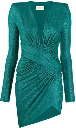 Alexandre Vauthier Embellished Ruched Dress