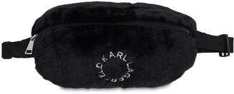 Karl Lagerfeld Paris Faux Fur Belt Bag