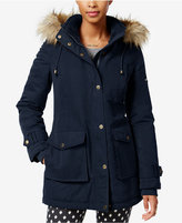 Rachel Roy Faux-Fur-Trim Hooded Parka, Only at Macy's
