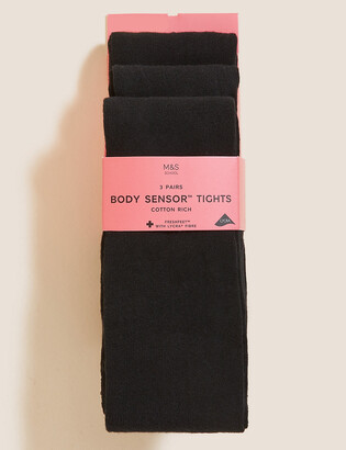Marks and Spencer 3pk of Body Sensor School Tights (4-14 Yrs)