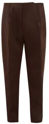 Bottega Veneta Tailored Wool Slim-leg Trousers - Brown