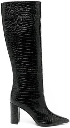 Giuliano Galiano Serena crocodile effect boots