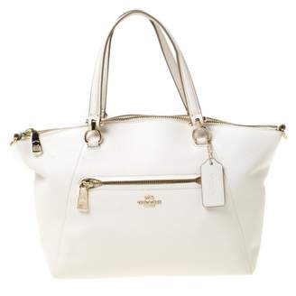 Coach Pebbled Prairie Satchel Other Leather Handbags