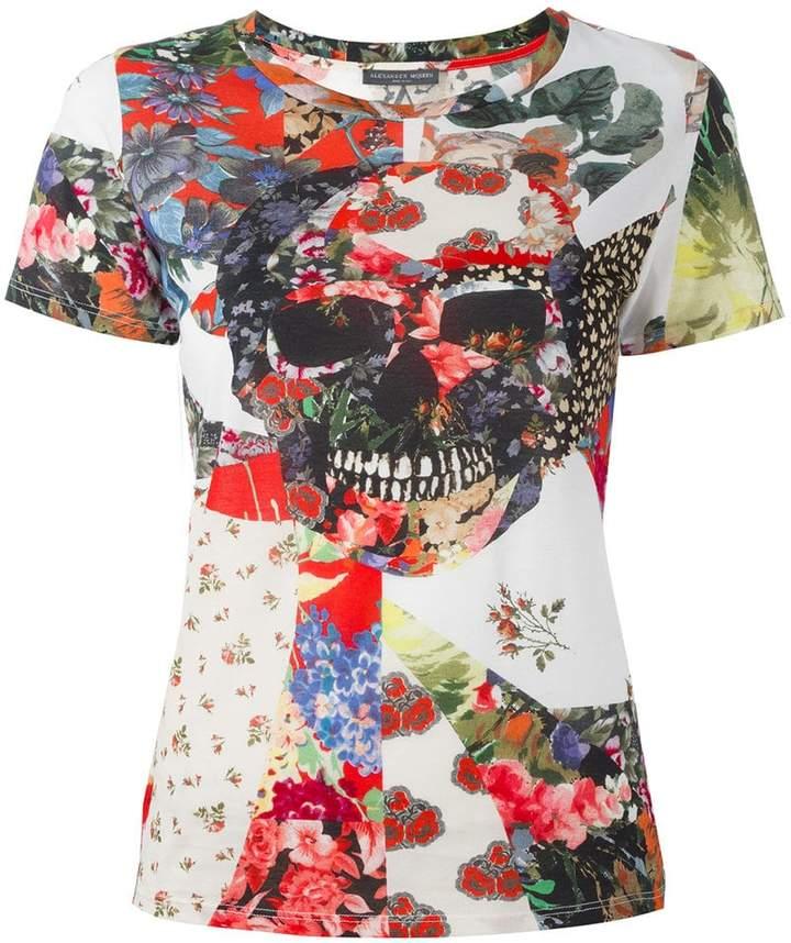 Alexander McQueen patchwork skull T-shirt