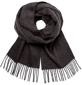 Johnstons Plain Cashmere Scarf, Charcoal