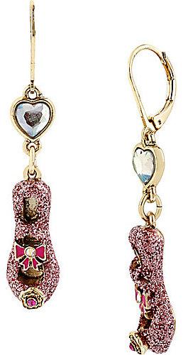 Betsey Johnson Imperial Pink Slipper Drop Earring
