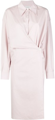 Lemaire Wrap-Detail Shirt Dress