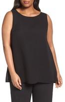 Lafayette 148 New York Plus Size Women's Ruthie Silk Shell