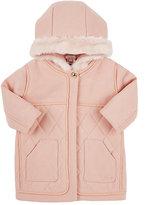Chloé Wool-Blend Hooded Coat-PINK