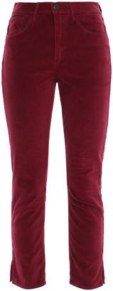 3x1 W3 Higher Ground Cropped Cotton-blend Velvet Slim-leg Pants