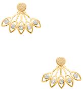 Ecru Fan-Shaped Earrings