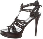 Stuart Weitzman Leather Platform Sandals