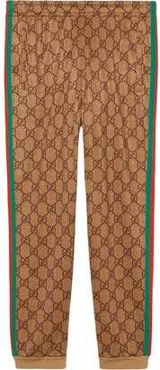 Gucci GG Supreme print cotton blend sweat pants