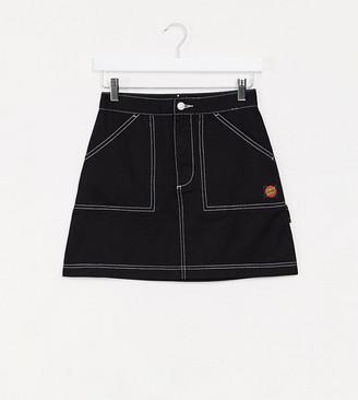 Santa Cruz Bail Skate skirt in black Exclusive at ASOS