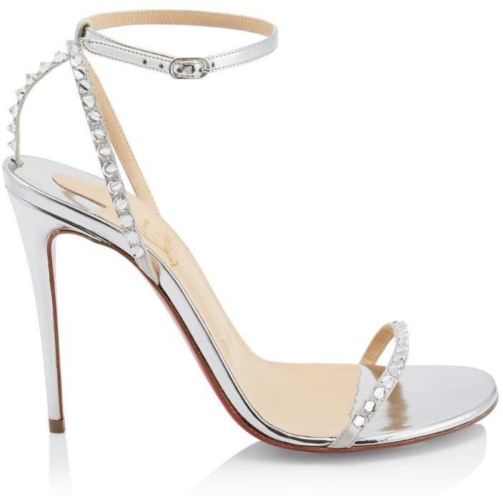 Christian Louboutin So You Crystal Spike Metallic Sandals