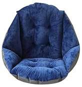TRIEtree Plush Dining Chair Cushion Student Thickening Warm Cushion Office Waist Cushion Computer Game Chair Cushion