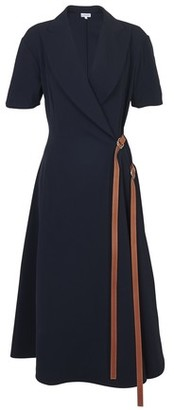 Loewe Wrap dress leather strap