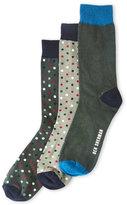 Ben Sherman 3-Pack Dot Print Crew Socks